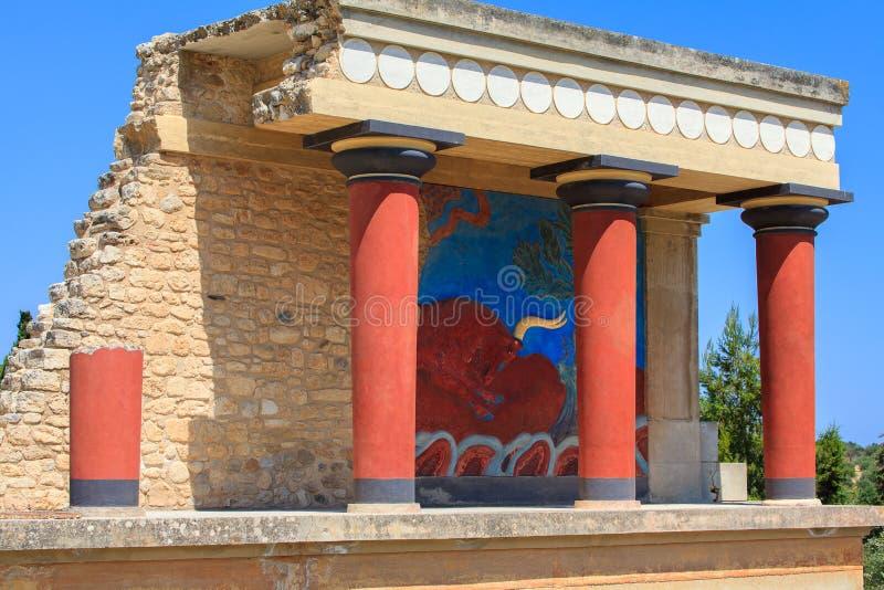 The palace of knossos stock photo