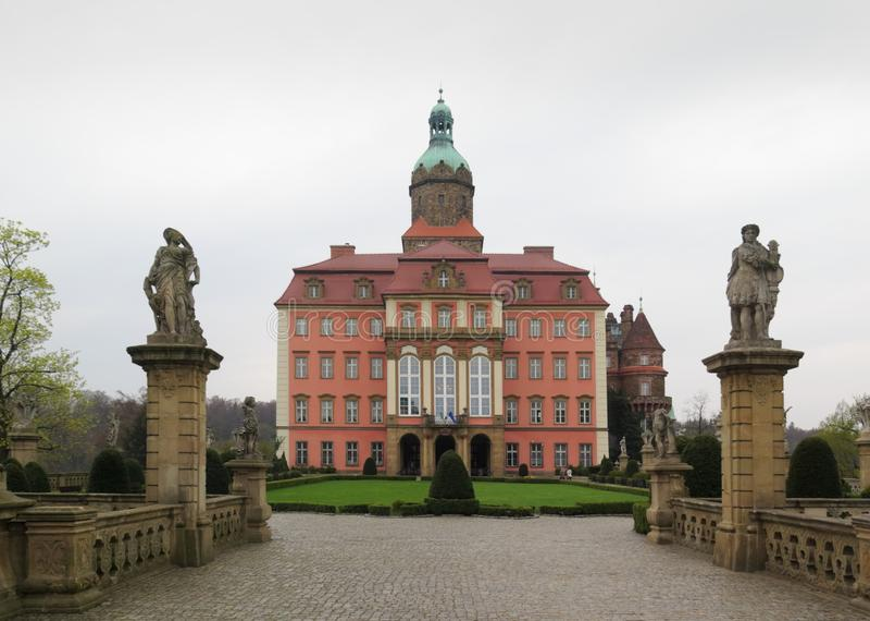 Palace Ksiaz (Furstenstein) - castle in Walbrzych in Lower Silesian Voivodeship, Poland. Palace Ksiaz - castle in Walbrzych in Lower Silesian Voivodeship, Poland royalty free stock photos