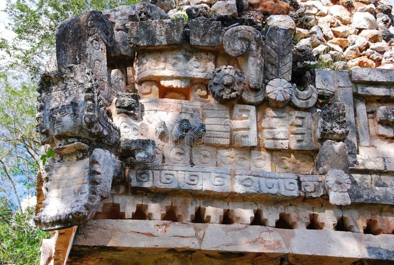 The Palace of Labna. Details of The Palace, Labna, Yucatan stock image