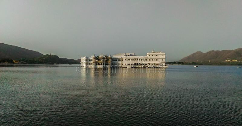 Palace in lake of udaipur india royalty free stock images