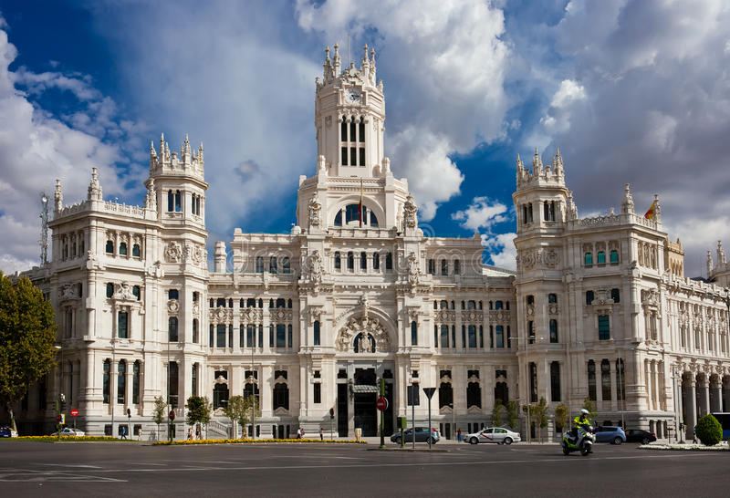 Palace in Madrid royalty free stock image