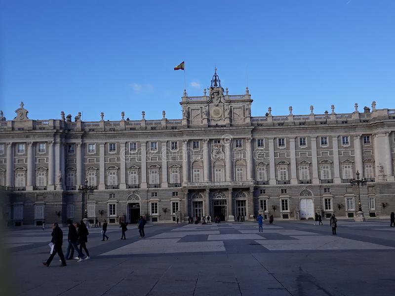 Palace in Madrid stock image