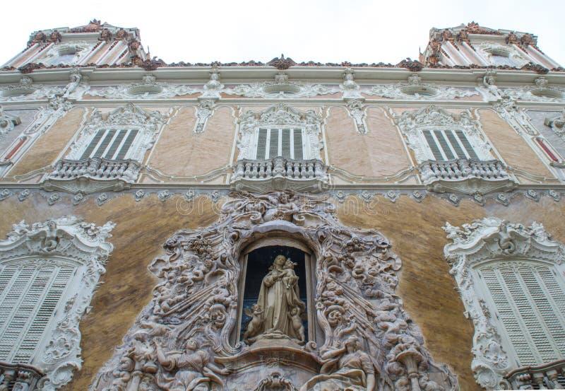 Palace of Marquis de Dos Aguas, National Ceramics Museum Gonzalez Marti in Valencia, Spain royalty free stock image