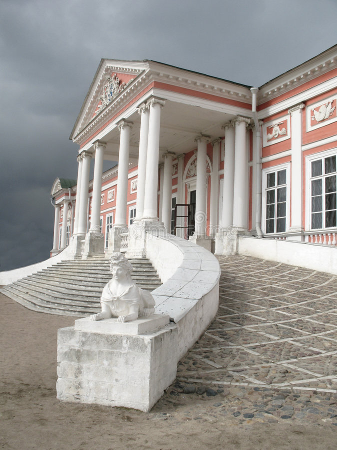 Palace in Moscow. Kuskovo stock image