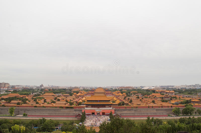 Palace museum in Beijing stock photography