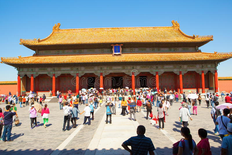 Palace museum scene-Hall of Preserving Harmony; Baohe Dian ( royalty free stock images