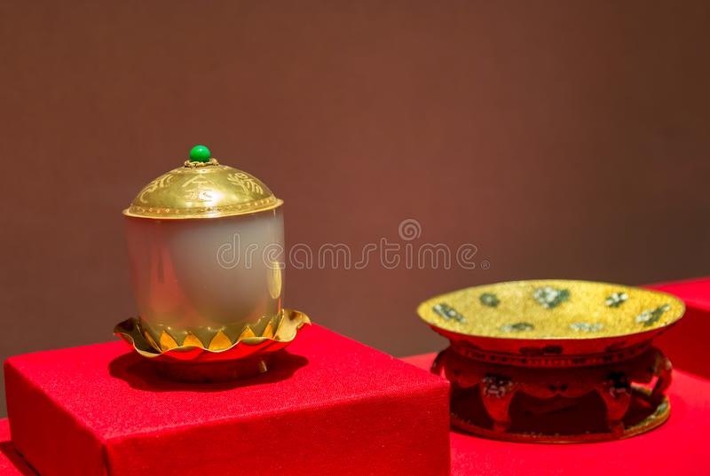 The Palace Museum Treasure Museum in Beijing stock photography