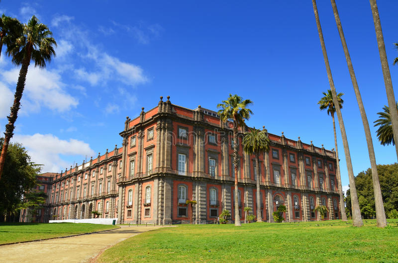 Palace of National Museum of Capodimonte. Naples, Italy. royalty free stock images