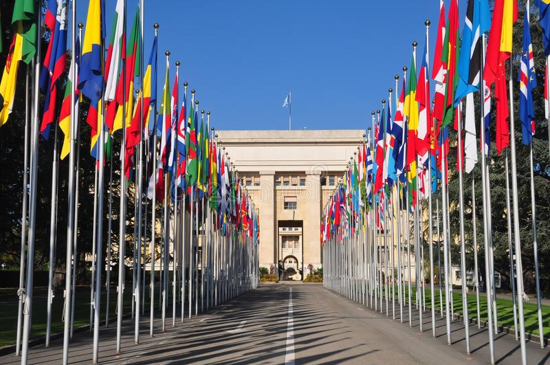 Palace of Nations stock image