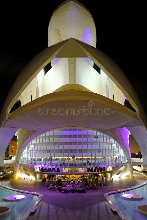 Free Palace Of The Arts By Night, Valencia, Spain Stock Image - 116490991