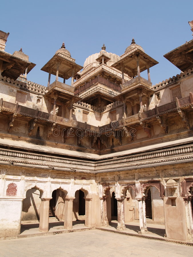 Palace In Orcha, Madhya Pradesh Royalty Free Stock Images