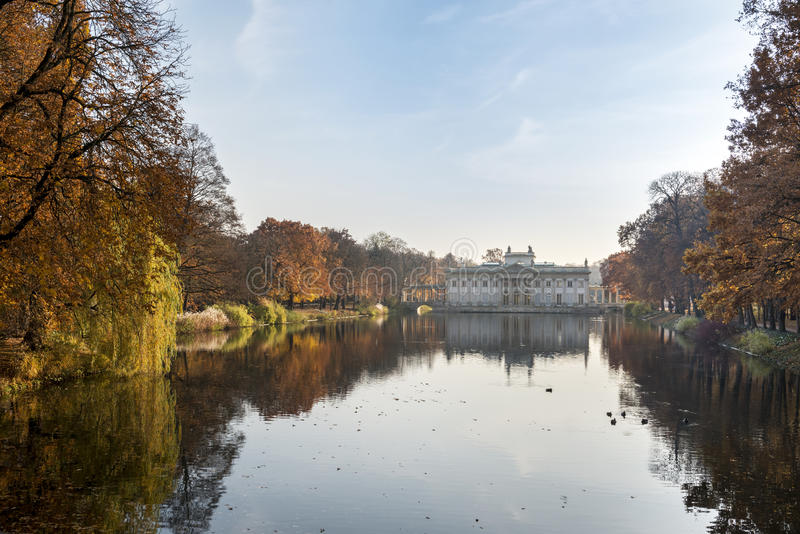 Palace Over Water in Lazienki park, Warsaw, Poland. Palace Over Water in Lazienki park during autumn afternoon, Warsaw, Poland stock photo