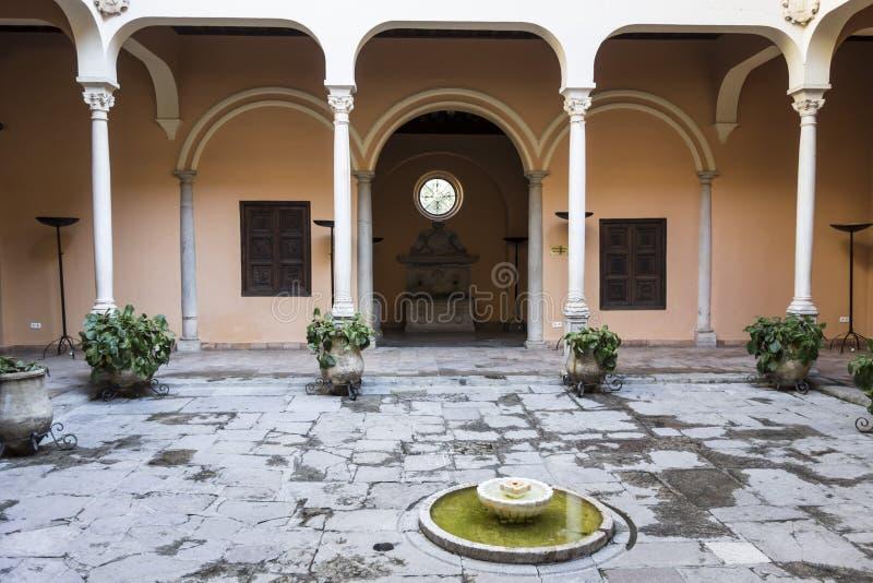 Palace, Palacio de los Cordova, Albaicin neighborhood,Granada,. Spain stock photos