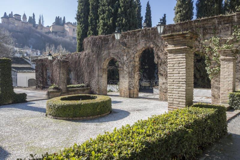 Palace, Palacio de los Cordova, Albaicin neighborhood,Granada,. Spain royalty free stock image