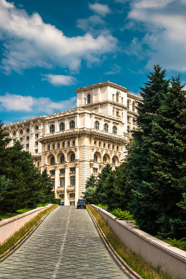 Palace of the Parliament in Bucharest, capital of Romania royalty free stock photos