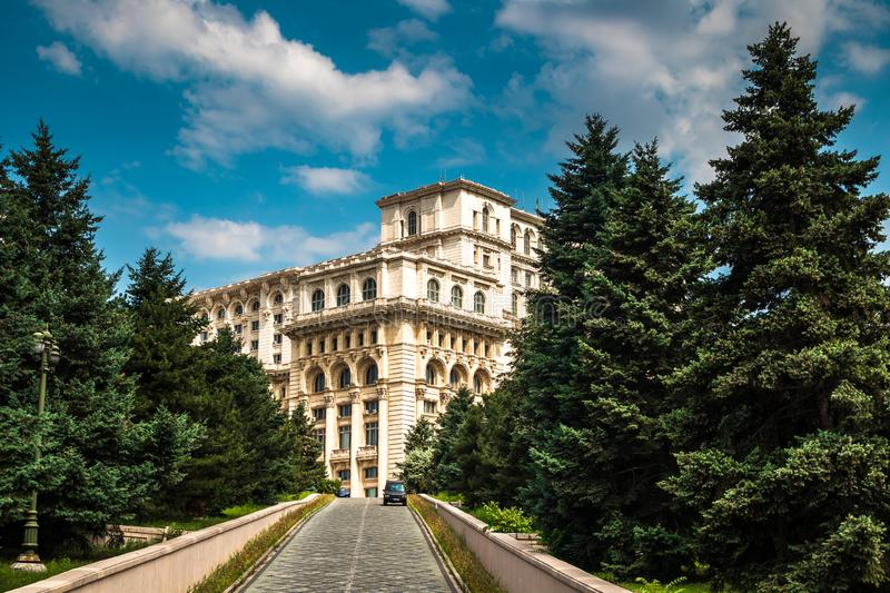 Palace of the Parliament in Bucharest, capital of Romania stock photography