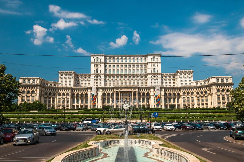 Palace of the Parliament in Bucharest, capital of Romania royalty free stock images