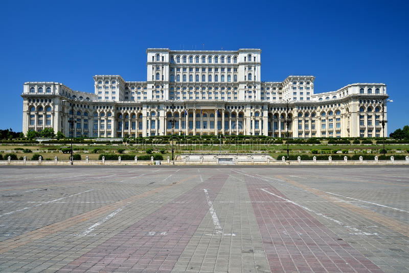 Palace of the Parliament, Bucharest, Romania royalty free stock photo