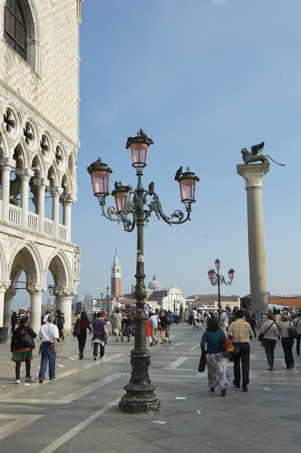 Palace Piazzetta di San Marco Dogen Venedigs Italien lizenzfreies stockfoto