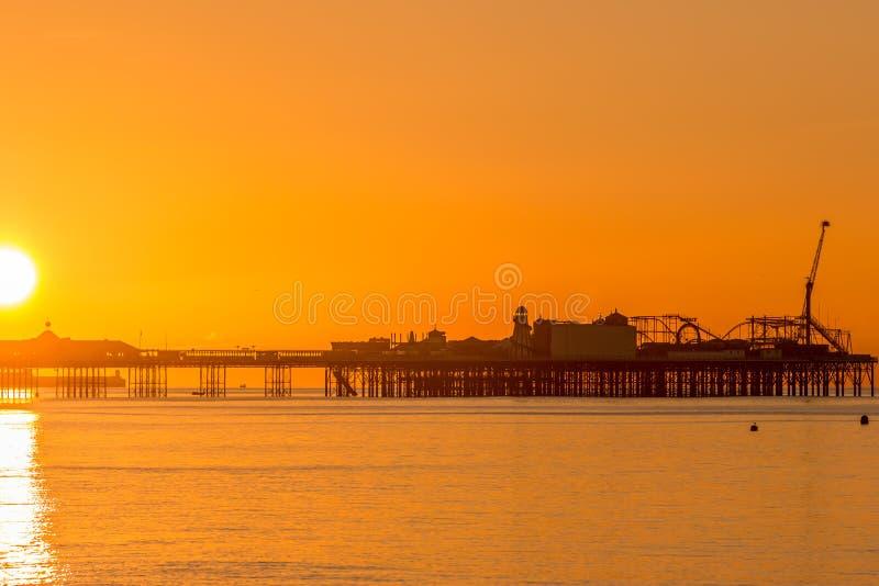 Palace Pier, Brighton at Dawn royalty free stock photography