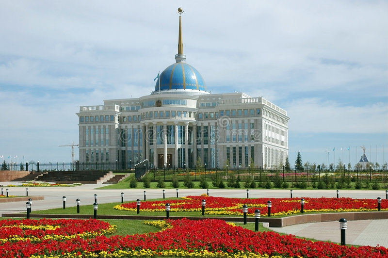 Palace of president stock photo