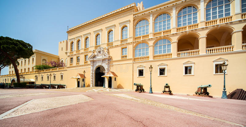 Palace Prinzen von Monaco lizenzfreies stockbild