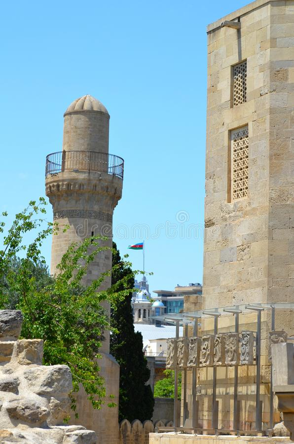 Palace of the Shirvanshahs in the old town of Baku, capital city of Azerbaijan stock images
