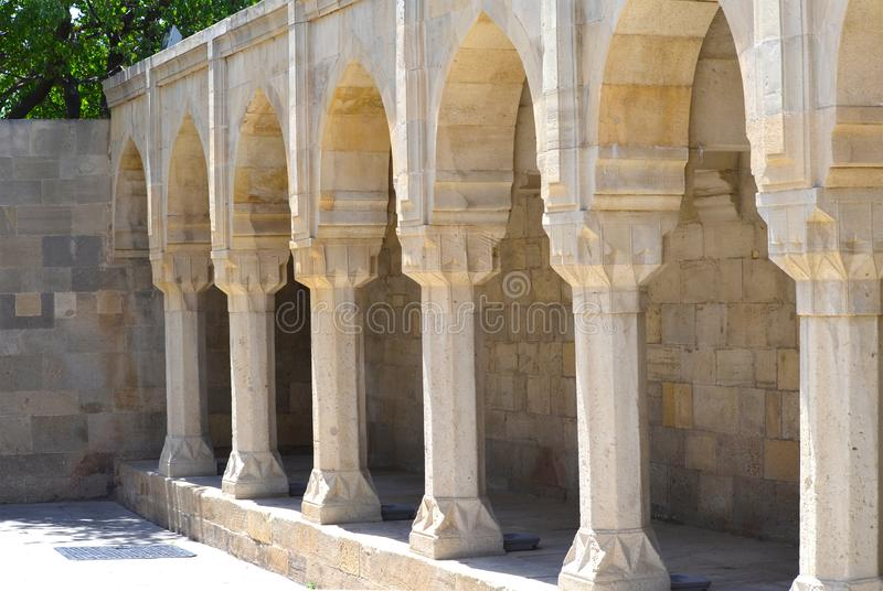 Palace of the Shirvanshahs in the old town of Baku, capital city of Azerbaijan. The Palace of the Shirvanshahs is a 15th-century palace built by the Shirvanshahs royalty free stock images