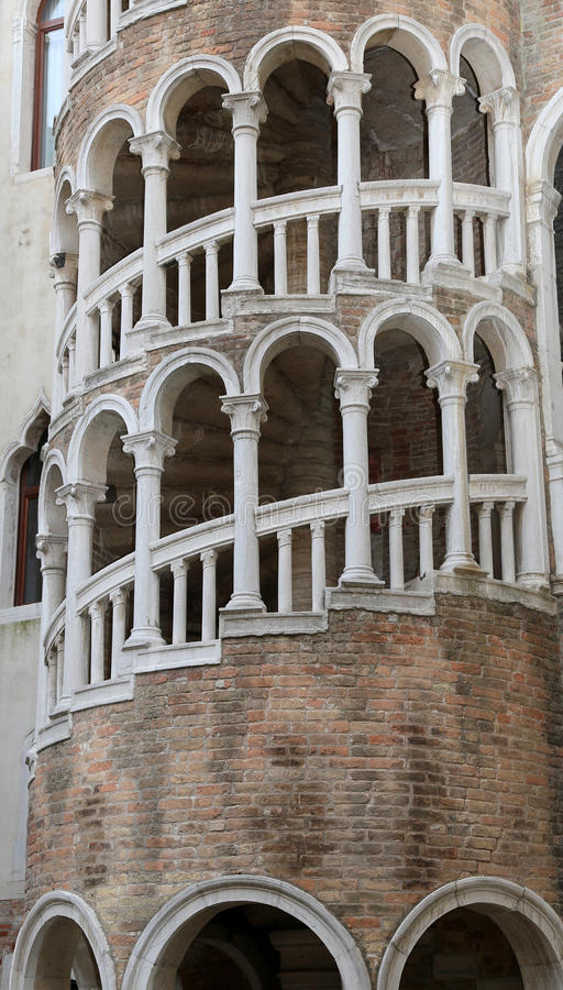 Palace with spiral staircase called Contarini del Bovolo Venice. Ancient palace with spiral staircase called Contarini del Bovolo Venice stock photos