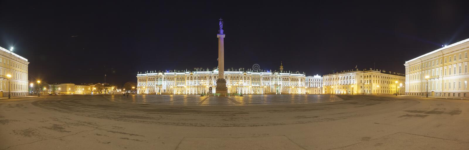 Palace Square in St. Petersburg panoramic view royalty free stock photography