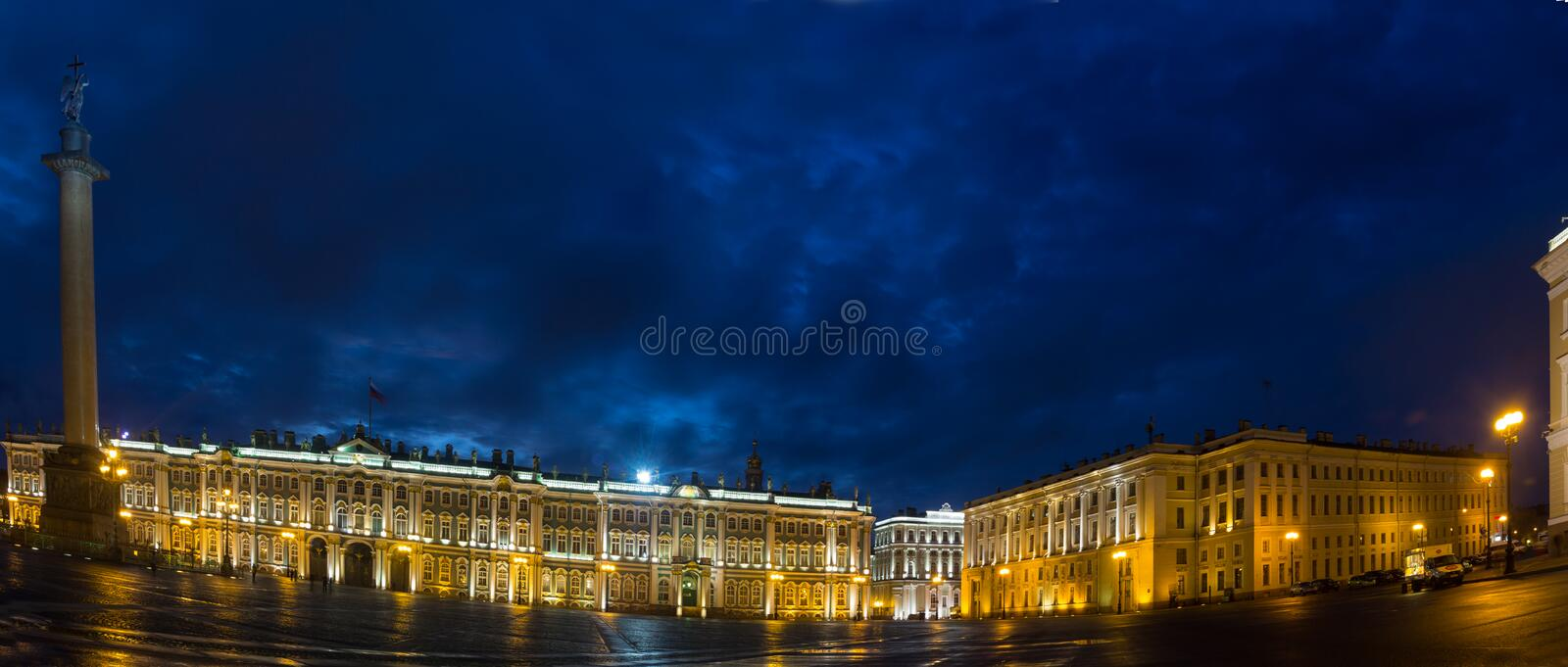 Palace square, St. Petersburg, Russia. The evening on Palace square in St. Petersburg royalty free stock photo