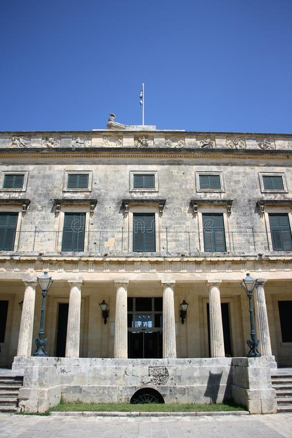 Palace of St. Michael and St. George in Corfu. Town, Greece. Built after 1819 by the British Lord High Commissioner of the Ionian Islands, later - after stock photos