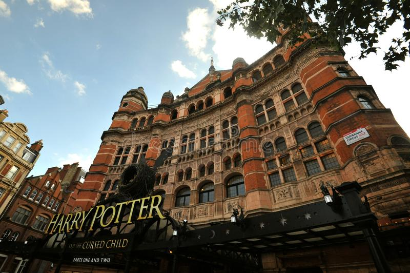Harry Potter play at The Palace Theatre in London , England stock images