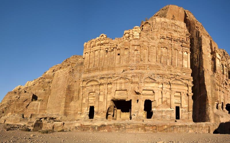The Palace Tomb Petra. Jordan stock image