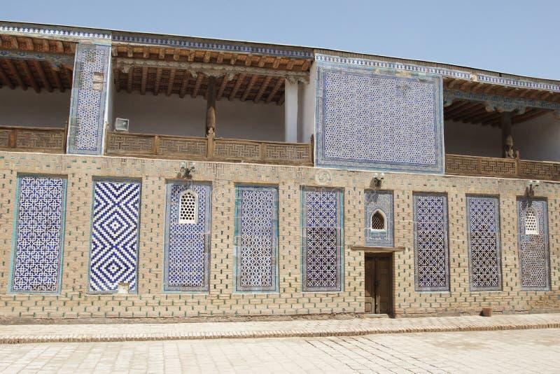 Palace Toshxovli, Khiva, Uzbekistan stock images