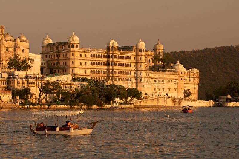 Palace.Udaipur.India. City Palace under sunset,Udaipur.India royalty free stock photos