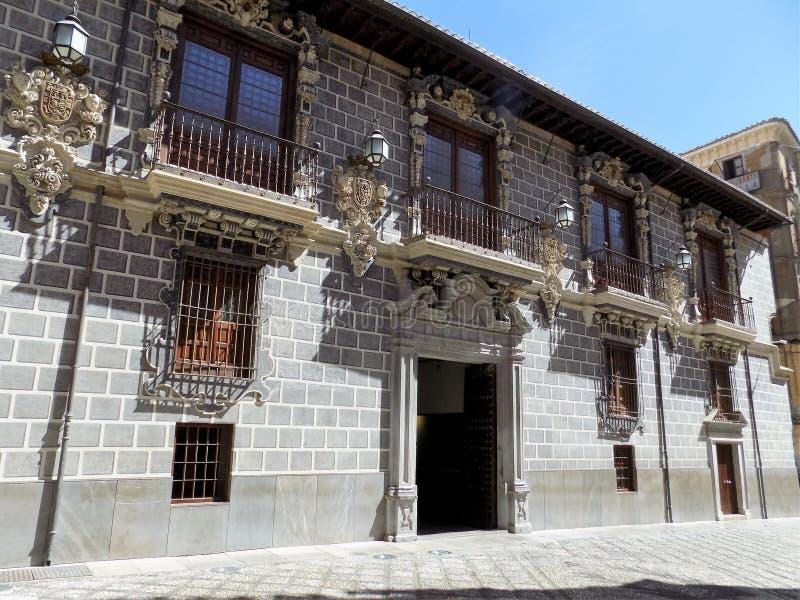Palace- van voorgevella Madraza de architectuur van Nazari Granada-Andalusia royalty-vrije stock fotografie