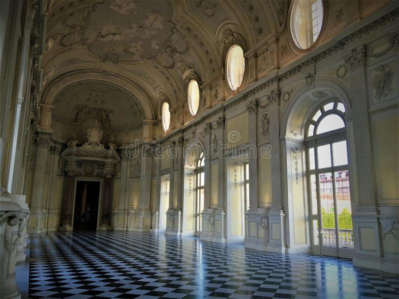 Palace of Venaria Reale, near Turin city, Italy. Fascination, splendour and luxury stock images