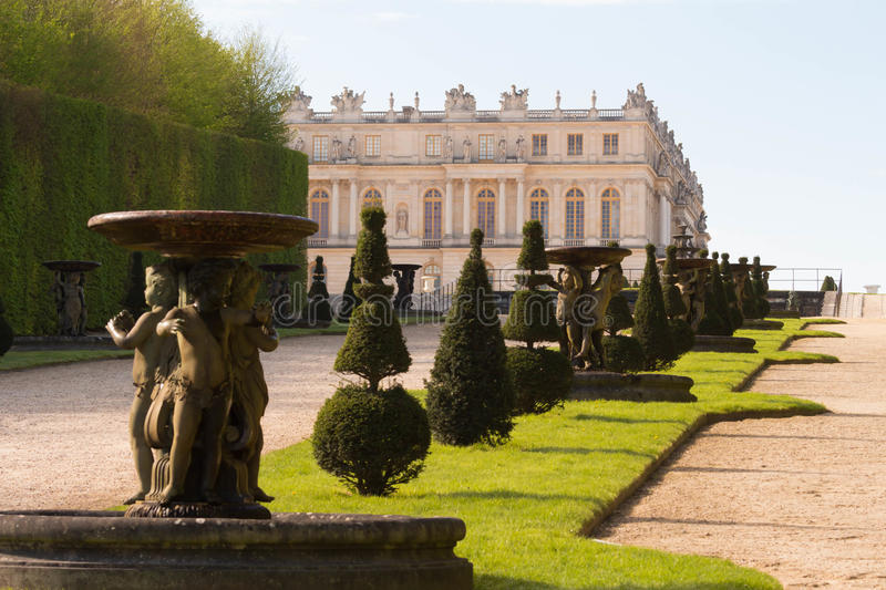 The Palace of Versailles ,France. The Palace of Versailles as seen from the park, France stock photos