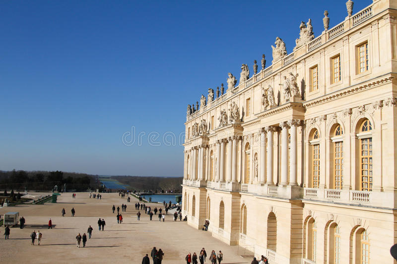 Palace of Versailles in Paris France stock image