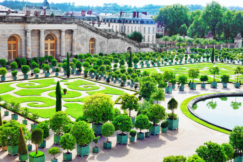 Palace Versailles, Royal Orangery. stock photo