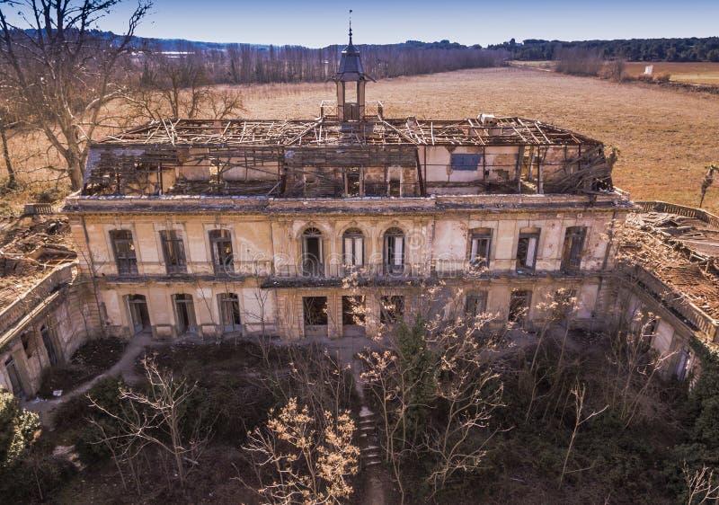 Palace Versallesco abandoned stock image