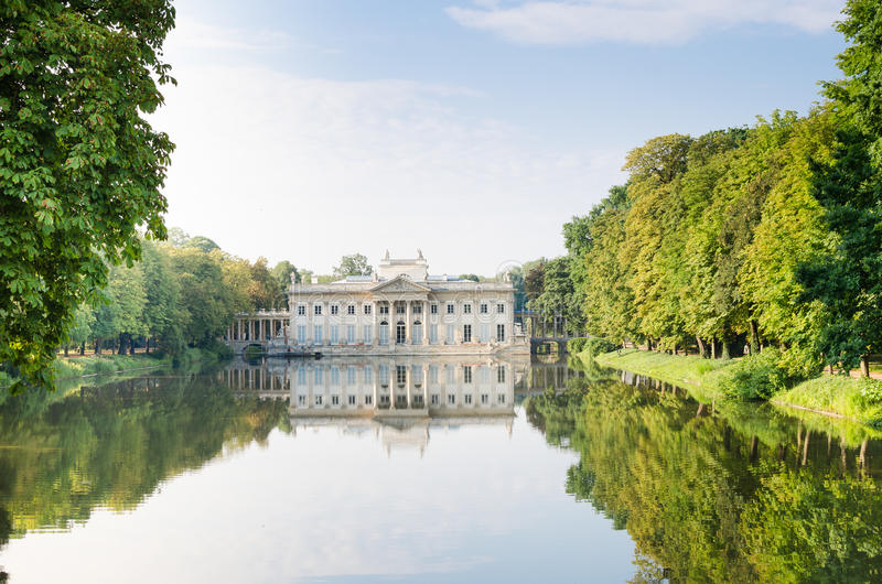 Palace on the Water in Lazienki Park. Warsaw royalty free stock images