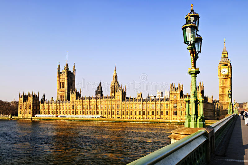 Download Palace Of Westminster From Bridge Stock Image - Image of clock, towers: 11218593