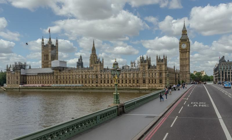 The Palace of Westminster, Houses of Parliament, British Parliament. United Kingdom, London. The Palace of Westminster, Houses of Parliament, British Parliament stock photo