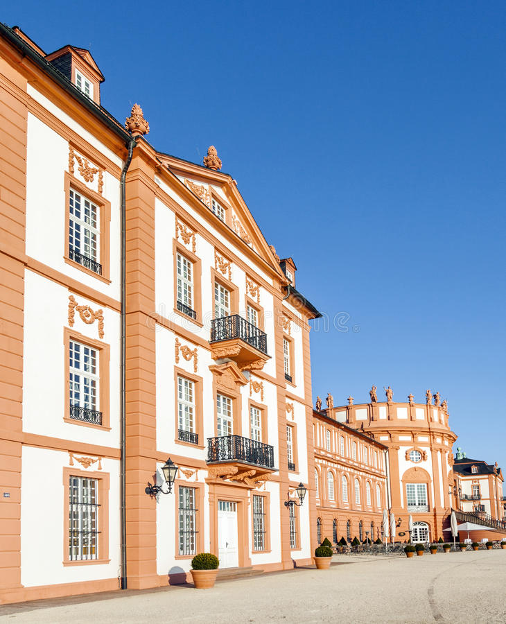 The palace of Wiesbaden Biebrich, royalty free stock image