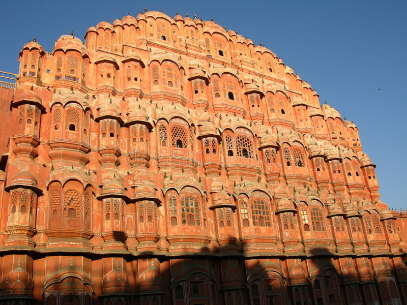 Palace of Winds. Jaipur, India, in morning light royalty free stock photos