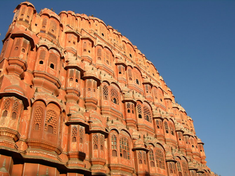 Palace of Winds. Jaipur, India, in morning light royalty free stock images