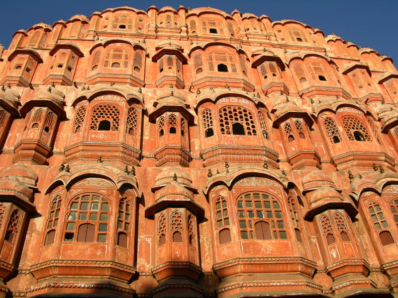 Palace of Winds. Jaipur, India, in morning light stock photography