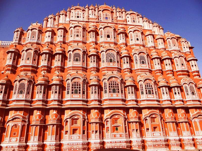 Palace of the Winds or Hawa Mahal, Jaipur; a Famous Rajasthan landmark royalty free stock photo